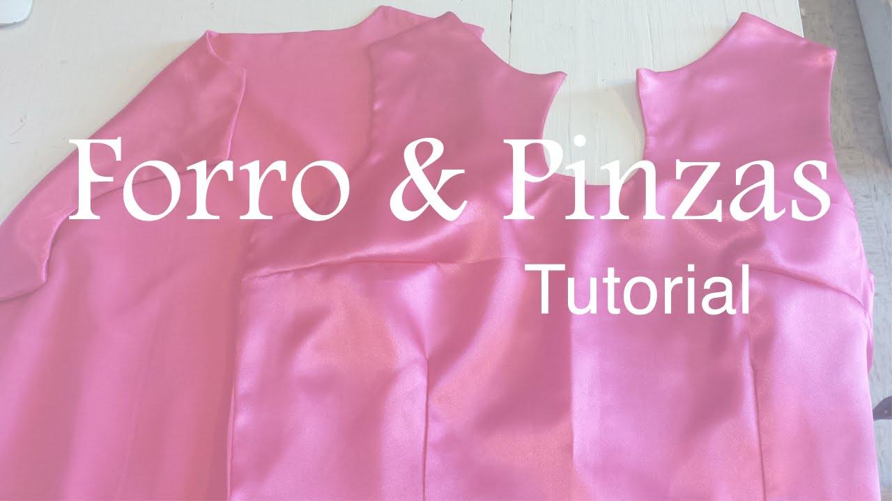 ♥ Como coser Forro y Pinzas a un vestido ☁ - YouTube