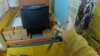 видео Как обложить металлическую печь в бане кирпичом