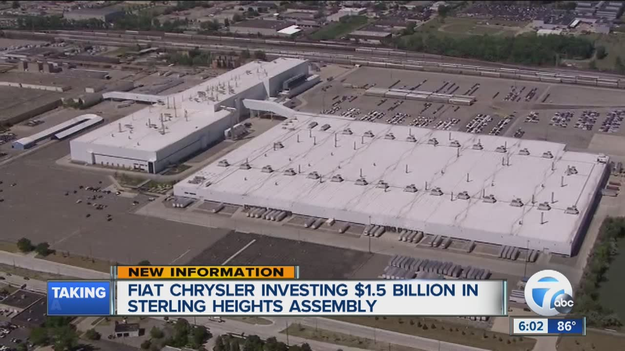 Sterling Heights Chrysler >> Fiat Chrysler Investing In Sterling Heights