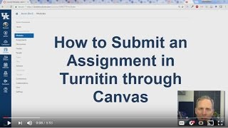 How to Submit an Assignment to Turnitin in Canvas for Students