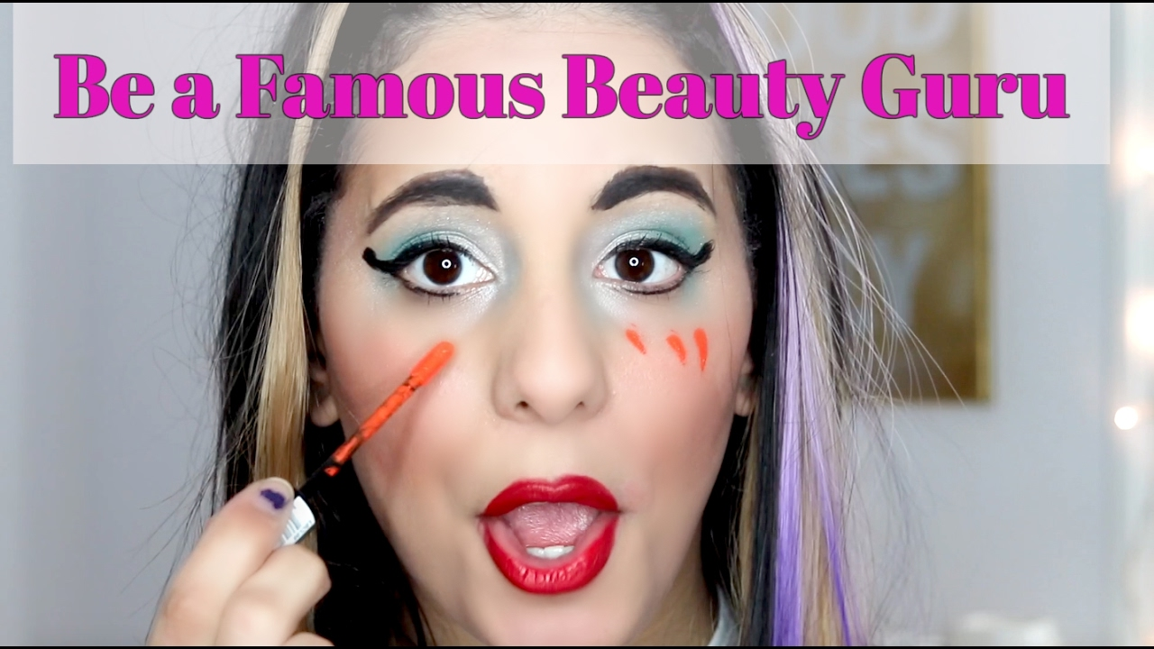 Famous youtuber teaches you how to do a makeup tutorial and be famous youtuber teaches you how to do a makeup tutorial and be famous spoof baditri Image collections