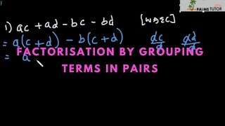 Factorisation by grouping terms in pairs