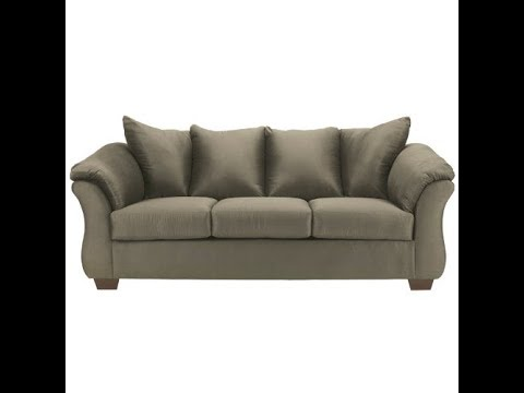 Flash Furniture Signature Design By Ashley Darcy Sofa In Sage Microfiber