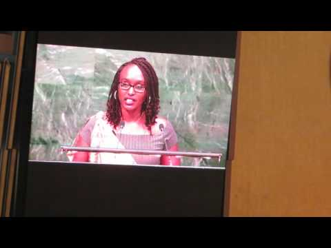 Frida Umuhoza-at UN -International day reflection of RWANDA