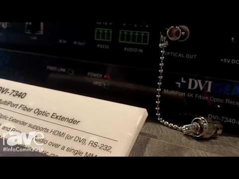InfoComm 2016: DVIGear Explains DVI-7340 4K Multiport Fiber Optic Extender