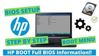 HP Laptop Boot Menu And BIOS Option