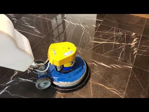 Complete Restoration of a Black Nero Marble Floor in Swansea | CSB Floor Care