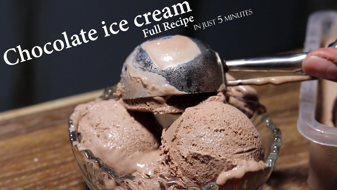 Easy Homemade chocolate ice cream Recipe ( Only 3 ingredients) By Abdullah Adil