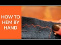 How to Hem by Hand - Herringbone Stitch - Beginner Sewing Tutorial 3