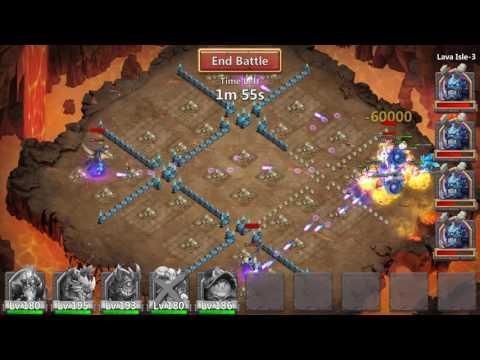 Castle Clash - Lava 3 Best Setup