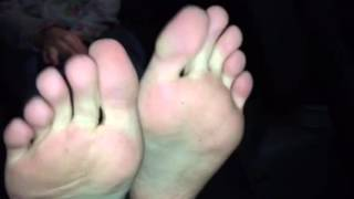 Long toes and soft sweaty soles SMELLY