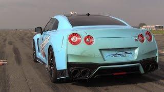 650HP Nissan GT-R R35 - Start, FAST Acceleration, Drag Racing!