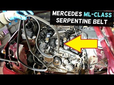 mercedes w163 serpentine belt replacement diagram ml320 ml430 ml350 01 Mercedes ML430