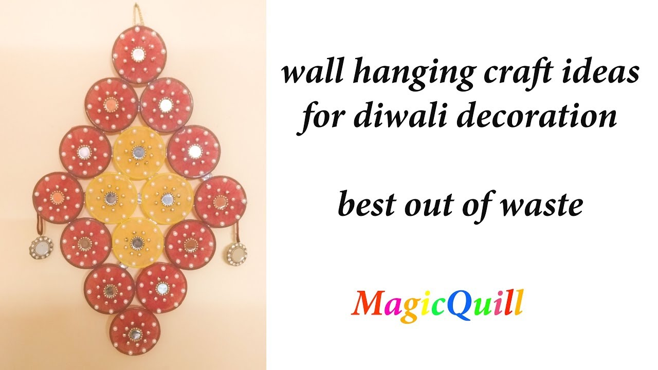 DIY diwali decoration//how to make wall hanging from old bangles and ...