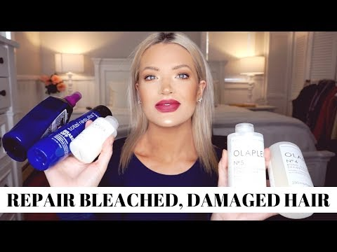 how-to-repair-bleached,-damaged-hair-&-keep-the-brassiness-out-|-isabel-galvin