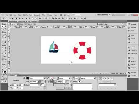 Tutorial: Adobe Fireworks CS5 for Beginners Lesson 5 - Grouping elements