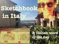Walk+Chat, Sketchbook Pages, Italian Words