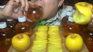 ASMR VIRAL TIKTOK APPLE JUICE BOTTLE DRINK (EATING SOUNDS & MUKBANG) | Atlas ASMR
