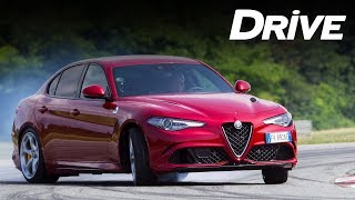 Alfa Romeo Giulia Quadrifoglio on road & track by DRIVE Magazine [English subs]
