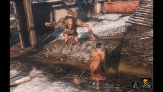 SEKIRO SHADOWS DIE TWICE  - Chained Orge BOSS Fight  Gameplay