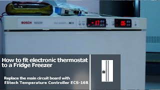 Fitting electronic thermostats to fridge freezer