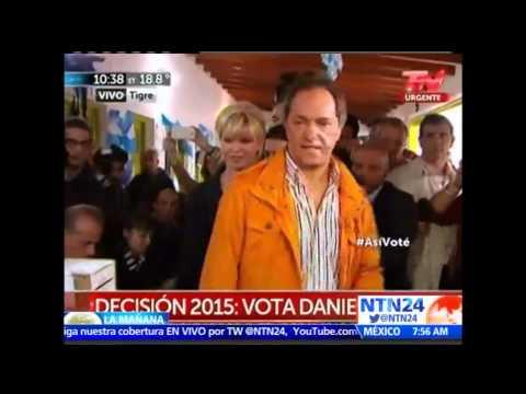 Oficialista Daniel Scioli lidera las elecciones primarias en Argentina, según datos oficiales