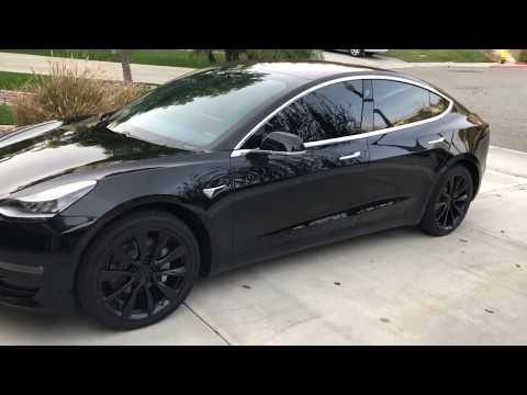 "Tesla Model 3 - Powder Coat Wheels on 19"" Stock Sports Wheels + Window tint"