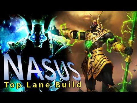 Nasus Top Lane Guide Build Nasus Items League Of Legends Youtube
