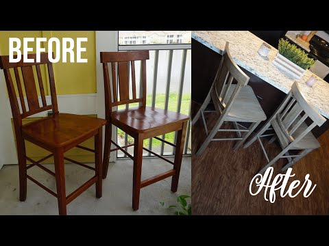 DIY RUSTIC DINING ROOM CHAIR MAKEOVER (No Sanding!) | CassieThatGirl
