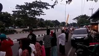 Presiden jokowi tiba di Ponpes Al-Fitrah Kedinding Surabaya Jatim