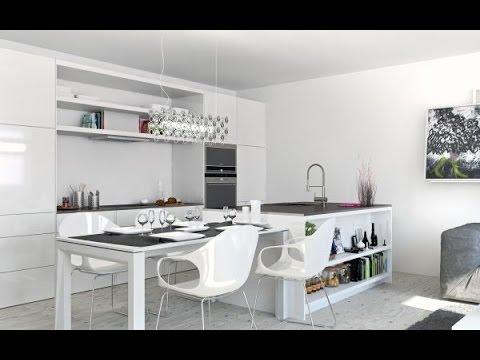 Ослепительный дизайн белой кухни