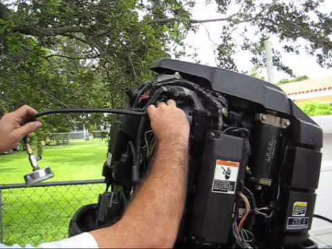 1995 Mercury 225 HP offshore outboard running and