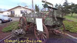 1899 Studebaker Covered Wagon Carriage Pre Car Automobile Historical Pioneer Vehicle In Oregon