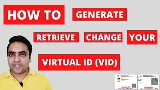 How to Generate Aadhaar VID in 2021 | 16 Digits Virtual ID Generate or Retrieve or Change Online