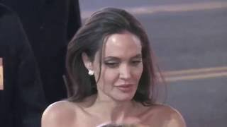 Brad Pitt and Angelina Jolie seen at premiere in  Hollywood, CA