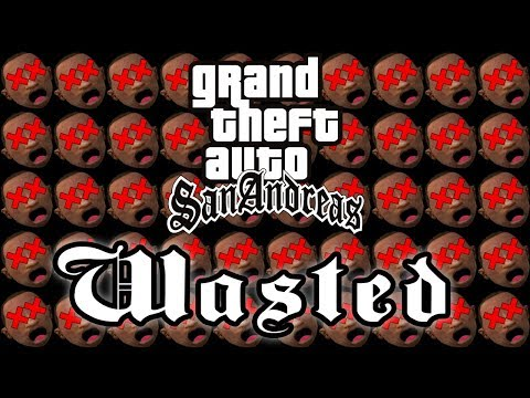 WASTED! Over 200 One HP Deaths in GTA San Andreas |