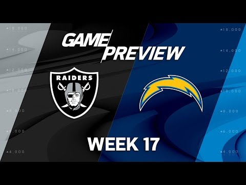 Oakland Raiders vs. Los Angeles Chargers | NFL Week 17 Game Preview | NFL