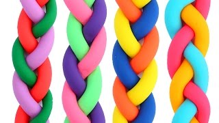 DIY How To Make Colors Play Doh Braids Modelling Clay Mighty Toys Learn Colors