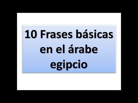 10 Frases Básicas En El árabe Egipcio Lección 1 Youtube