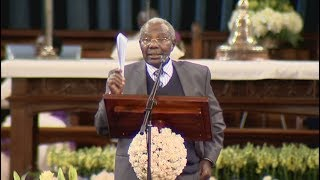 Man names Matiba's ''political enemies'' at funeral mass