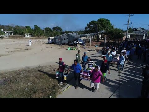 13 killed in Mexico quake zone helicopter crash