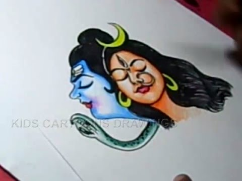 How To Draw Lord Shiva Parvati Drawing Step By Step Youtube