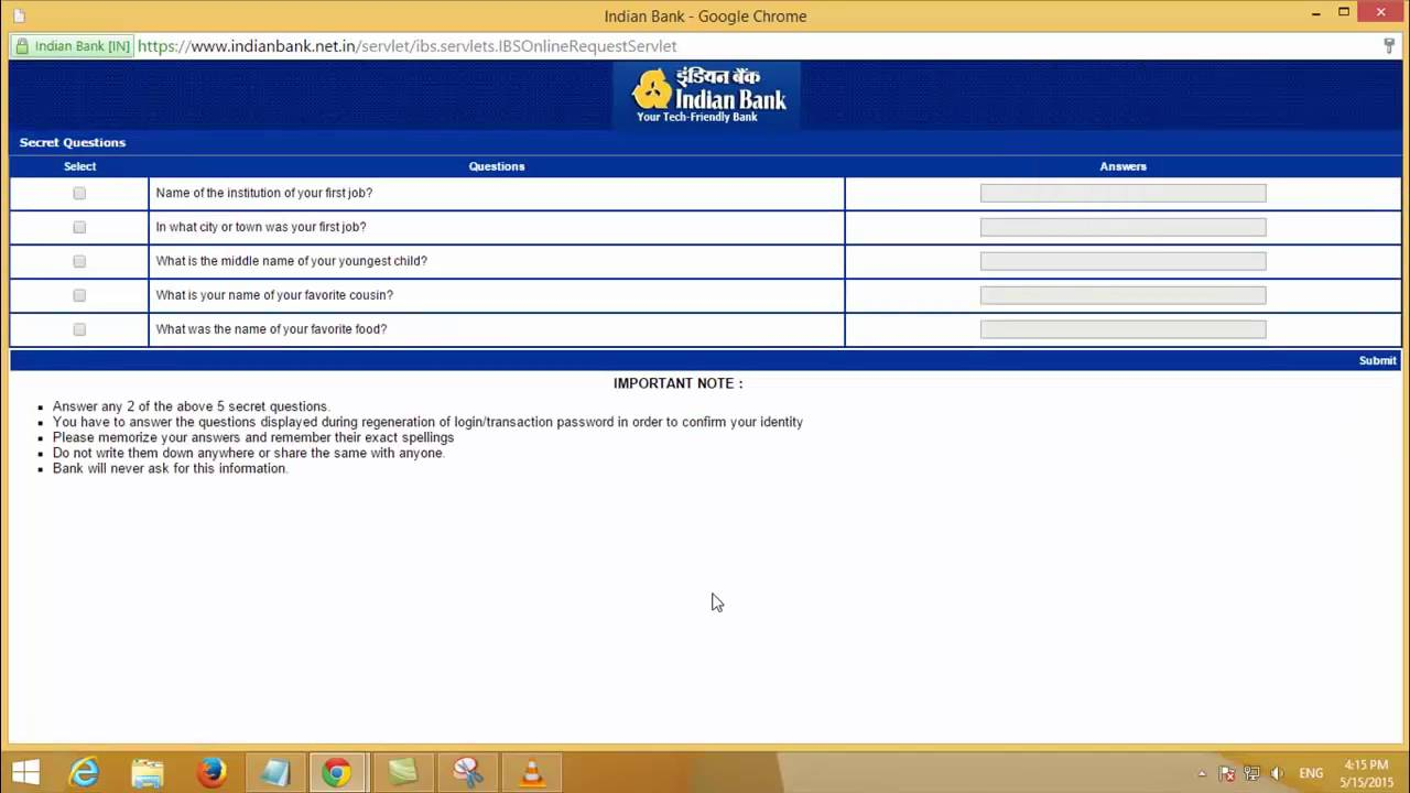 How to Activate Indian Bank Internet Banking Service - Tamil TechGuruJi - YouTube
