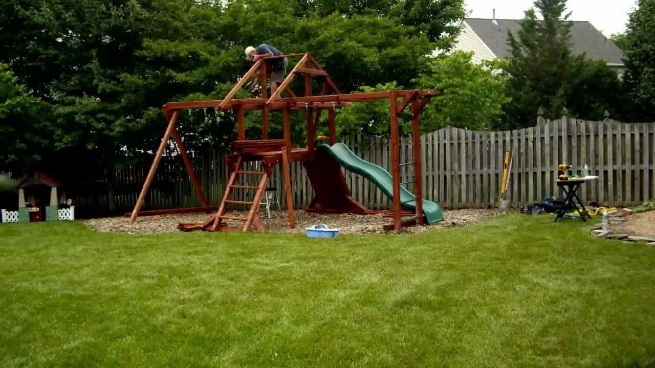 Installing A Kids Creations Swing Set Youtube