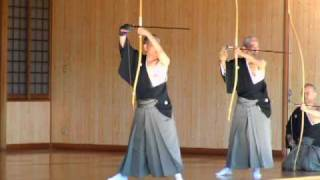 kyudo 弓道 範士特別演武 乙矢 2010 11 21