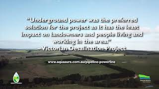 Transmission lines can go underground.