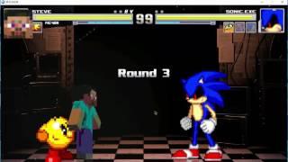 M.U.G.E.N - Steve and Pac-Man vs. Team Sonic