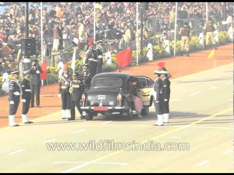 Chief guests on their arrival ushered into the VIP section - Republic Day, Delhi