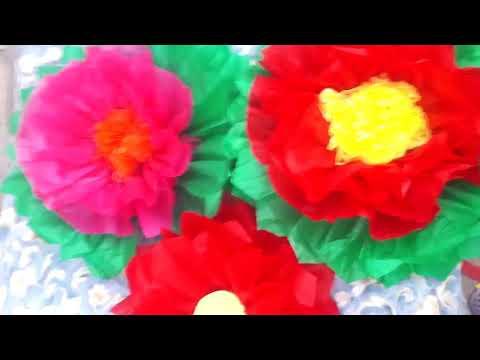 Como Hacer Una Flor Grande De Papel China How To Maker