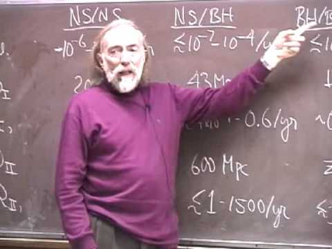 Astrophysics of Binary-Star GW Sources (5/5) by Kip Thorne - GW Course: astro-gr.org